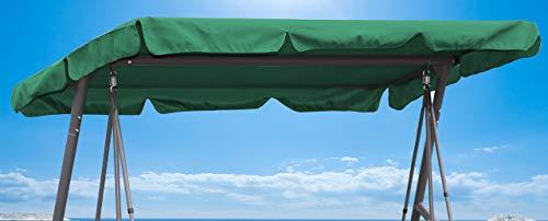 Quick-Star Ersatzdach Gartenschaukel Universal Hollywoodschaukel 3 Sitzer Grün Ersatz Bezug Sonnendach Schaukel Dach