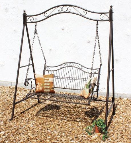 DanDiBo Schaukel Gartenschaukel aus Metall 082505 Hollywoodschaukel Garten Schmiedeeisen