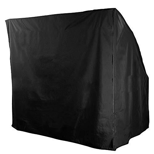 bennyuesdfd 3-Sitzer Hollywoodschaukel wasserdicht für den Außenbereich Garten Terrasse Sonnenschutz Sonnenschutz Sonnenschutz Abdeckung für Sonnenliegen 220 x 170 x 145 cm Schwarz
