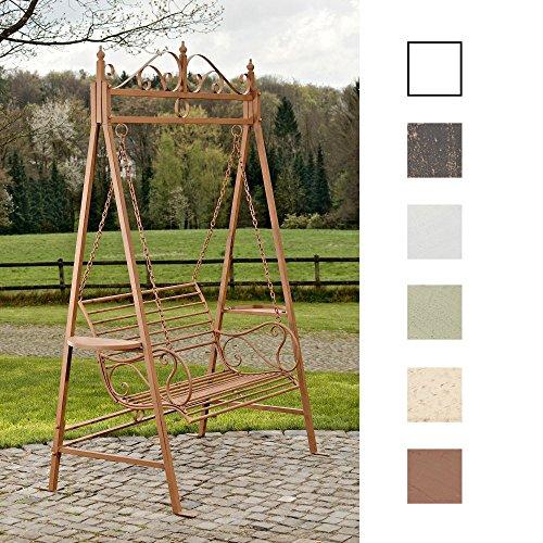 CLP 2 Sitzer  3 Sitzer Garten Hollywoodschaukel AIMEE Landhaus-Stil Metall Eisen antik-braun