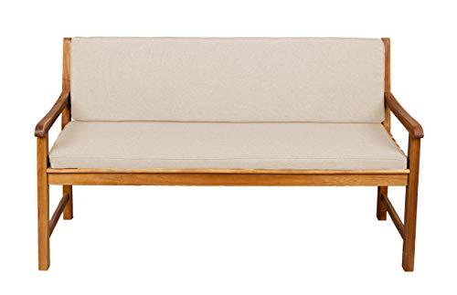 Bankauflage Für Hollywoodschaukel Set Glatt Sitzkissen  Rückenlehne Sparpreise 120x40x50 Orange