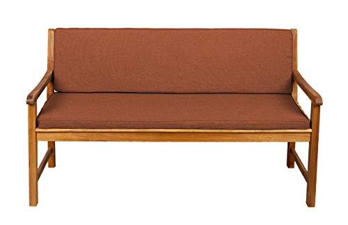 Bankauflage Für Hollywoodschaukel Set Glatt Sitzkissen  Rückenlehne Sparpreise 130x40x50 Orange