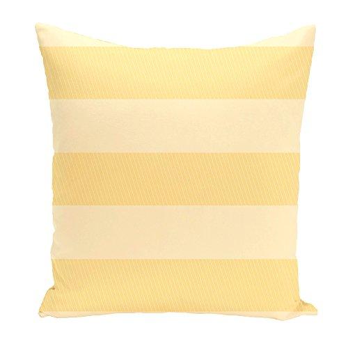 E von Design Deko Kissen gelb gelb