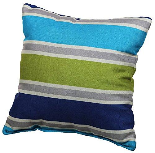 Palettenkissen Palettenauflagen Sitzkissen Rückenlehne Gesteppt Deko-Kissen 40x40 Gelb-Blau 1