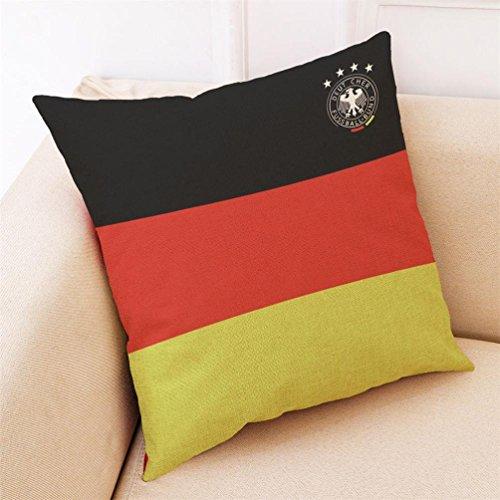 Baifeng Kissenbezug Flagge Russland Fifa World CupFußballTeam Nationalflagge Kissen Kissenbezug für Sofa Zuhause Schlafzimmer Dekoration Deutschland