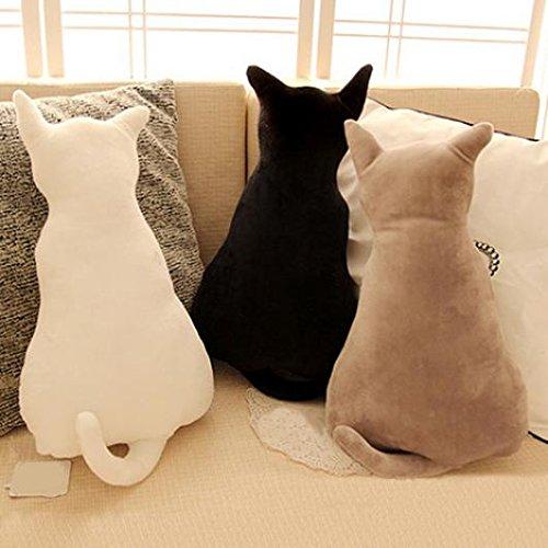 KaariFirefly Cute Cat Zurück in die mit Soft-Plüsch Spielzeug Sofa Kissen Sitzkissen Geschenk weiß 45 cm