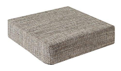 Trend Kissen Sitzblock Bodenkissen Stuhlkissen Sitzerhöhung 40x40x10 cm Hellgrau