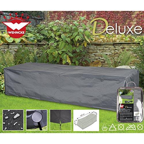 Deluxe Schutzhülle für Garten-Sonnenliege 200x75cm Polyester 420D - Garten Liege Gartenmöbel Schutz Hülle Abdeckung Tragetasche Plane