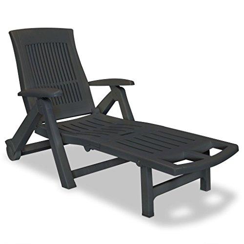 vidaXL Sonnenliege Kunststoff Garten Liege Relaxliege Liegestuhl Rollliege