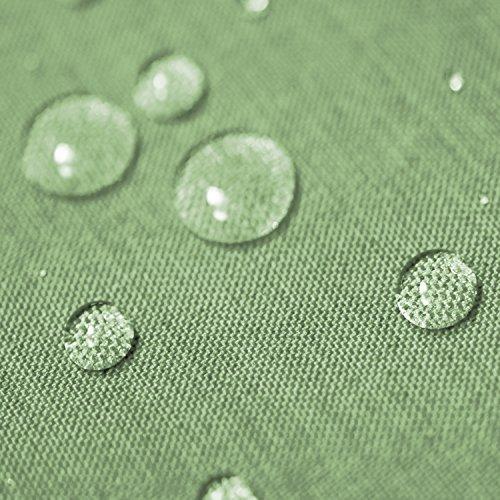 Gartentischdecke Lotus Effekt Rund 160 cm Hellgrün Grün - Farbe Form Größe wählbar mit Fleckschutz - LE_R160HGrün