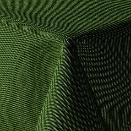 amp-artshop Tischdecke Leinen Optik Eckig 160x260 cm Dunkelgrün Grün - Farbe Form Größe wählbar mit Lotus Effekt - E160x260DGrün