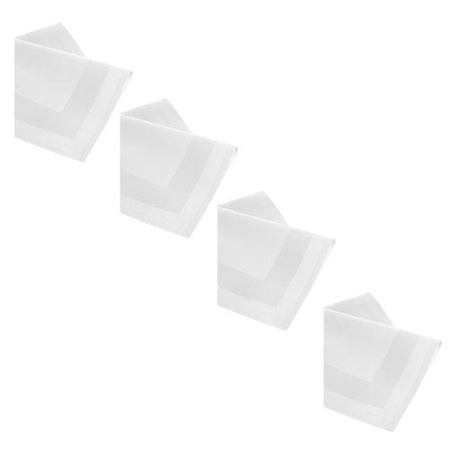 DAMAST Tischdecke 12 x Servietten 50x50 cm Weiss Atlaskante 100 Baumwolle Tischwäsche Tablecloths von DecoHometextil