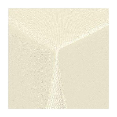 TEXMAXX Damast Tischdecke Maßanfertigung im Punkte-Design in creme-beige 100x150 cm eckigweitere Längen und Farben wählbar