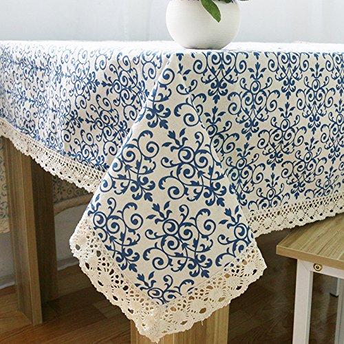 Erica Retro Blau und Weiß PorzellanChinesischer klassischen Baumwolle Tischdecken 140220
