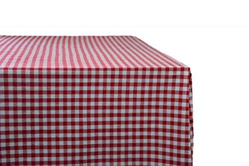 Giordana Event Design Tischdecke 140 x 280 cm rotweiß kariert - 100 Baumwolle
