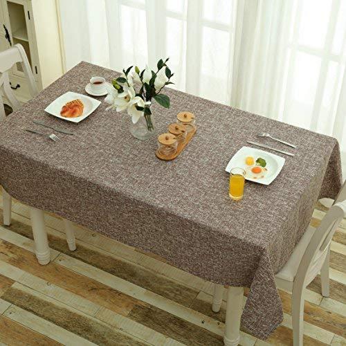 Mrs Sleep Tischdecke Baumwolle Leinen einfarbig Staubschutz geeignet für die Küche coffee