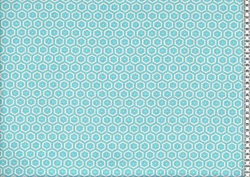Swafing Beschichtete BaumwolleLeona  Hexagon türkisTischdecke  MeterwareIndoor  Outdoor