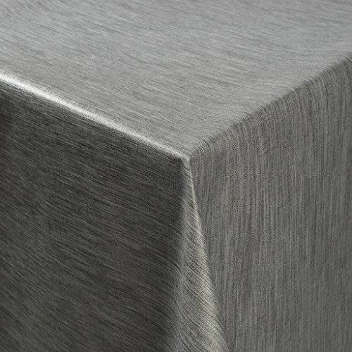 Tischdecke Wachstuch RUND ECKIG OVAL in verschiedenen Größen abwaschbar Meterware einfarbig Uni Wachstischdecke grau