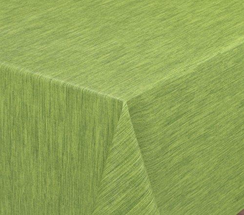 Wachstuchtischdecke rund oval eckig Georginias Tischdecke abwischbar LFGB Farbe und Größe wählbar Rund 120 cm Grün