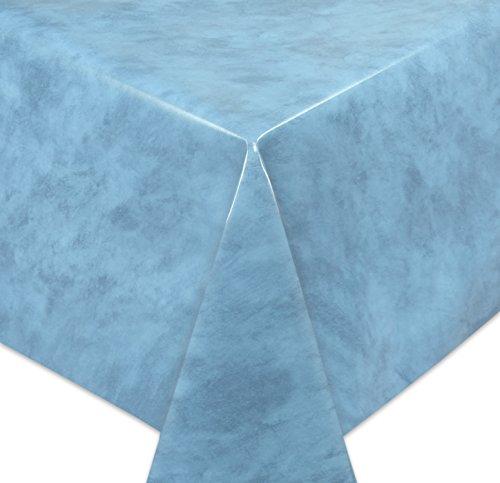 Wachstuchtischdecke Tischdecke Wachstuch abwischbar Glatte Oberfläche Marmor Motiv Blau Farbe  Größe wählbar 240x140 cm