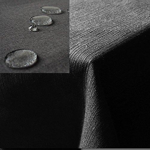 JEMIDI Tischdecke  Gartentischdecke Lotus Effekt Leinenoptik Tischdecke Decke Leinen Fleckschutz XL Anthrazit Eckig 130cm x 260cm