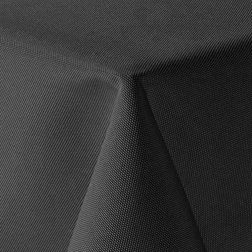 amp-artshop Tischdecke Leinen Optik Eckig 160x260 cm Grau bzw Anthrazit - Farbe Form Größe wählbar mit Lotus Effekt - E160x260DGrau