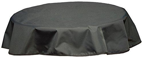 beo Outdoor-Tischdecken wasserabweisende rund Durchmesser 120 cm schwarzanthrazit