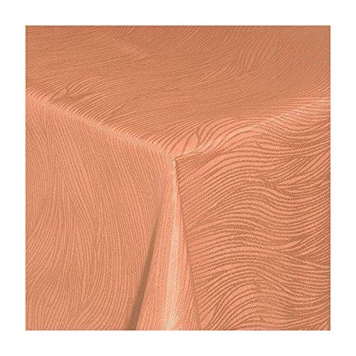 TEXMAXX Damast Tischdecke Maßanfertigung im Fantasia-Design in terrakotta 120x200 cm eckig weitere Längen und Farben wählbar