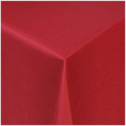 TEXMAXX Damast Tischdecke Maßanfertigung im Uni-Design in wein-rot 120x200 cm eckig weitere Längen und Farben wählbar