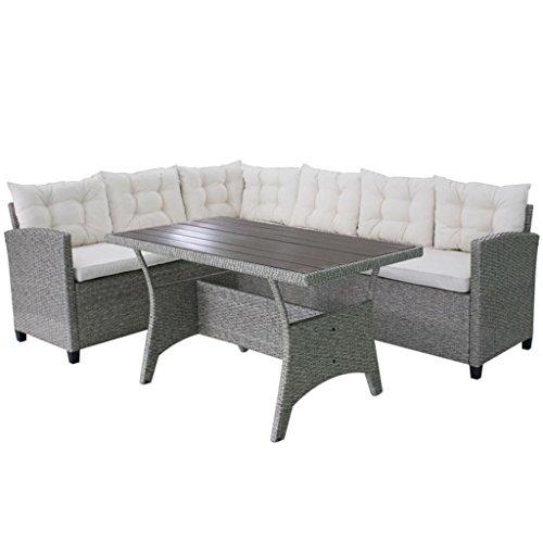 vidaXL Garten Sofagarnitur WPC Grau 12-tlg Gartenmöbel Sitzgruppe Lounge Sofa