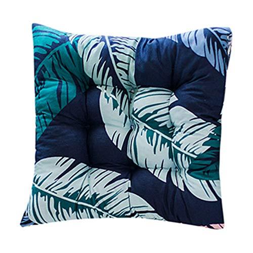 VNEIRW Stuhlkissen Sitzkissen,Tropische Pflanze Drucken Outdoor Garten Terrasse Home Küche Büro Sofa Stuhl Sitz weiche Kissen Pad,ca 40x40 cm E