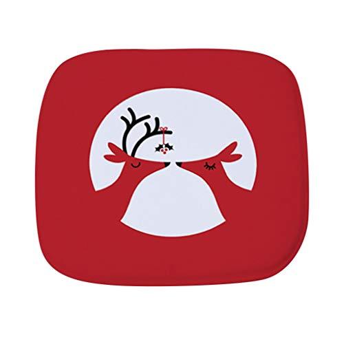 VNEIRW Stuhlkissen Sitzkissen WeihnachtenSchneeflocke Elch Pflanze Drucken Terrasse Home Küche Büro Sofa Stuhl Sitz weiche Kissen Pad,ca 40x40 cm B