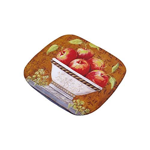 VNEIRW Stuhlkissen Sitzkissen WeihnachtenVintage Ölgemälde Stil Drucken Terrasse Home Küche Büro Sofa Stuhl Sitz weiche Kissen Pad,ca 40x40 cm D