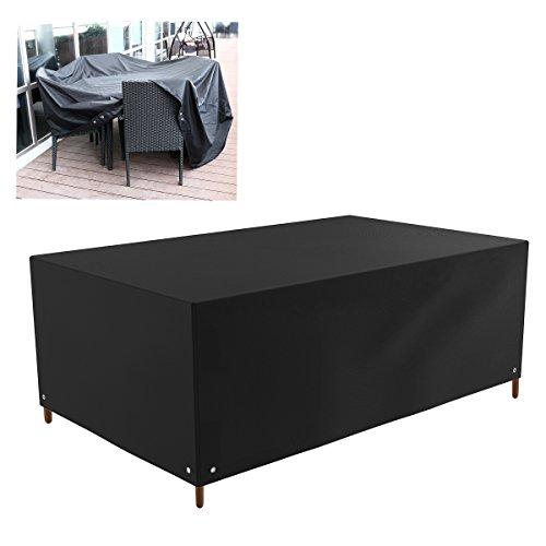 WINOMO Rectangle Table Patio Cover Sofa Stuhl Lounge Outdoor Möbel Staubschutzhülle 213x132x74cm schwarz