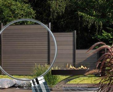 Sichtschutzzaun WPC System Set anthrazit 178x183cm - Sichtschutz Sichtschutz Elemente Sichtschutzwand Windschutz Sichtschutzzäune