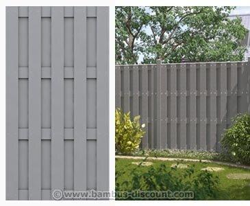 bambus-discountcom WPC Gartenzaun 100 blickdicht 95x179cm - Sichtschutz Sichtschutz Elemente Sichtschutzwand Windschutz