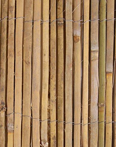 Bambus-Sichtschutz aus Leisten Bambusmatte - 4m Rolle 2m Hoch - Papillon™