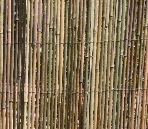 HaGa-Weltde 3m x 15m Bambusmatte Bambus-Sichtschutzmatte Zaun- Sichtschutz Matte geschnitten