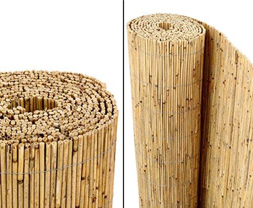 Schilfrohrmatten PremiumBeach 140 hoch x 600cm breit ein Produkt von bambus-discount - Sichtschutz Matten Windschutzmatten …