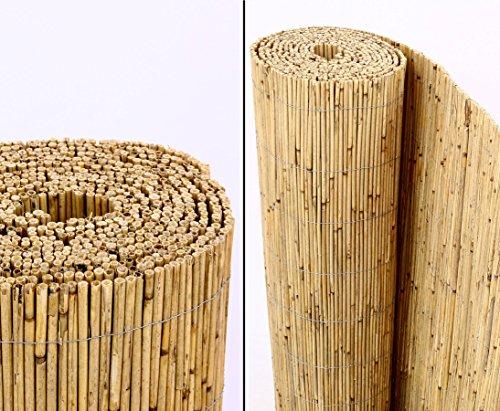 Schilfrohrmatten Premium Beach 160 hoch x 600cm breit ein Produkt von bambus-discount - Sichtschutz Matten Windschutzmatten