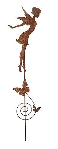 Blümelhuber Gartenstecker Zauberfee 86cm Metall Rost Gartendeko Edelrost Groß