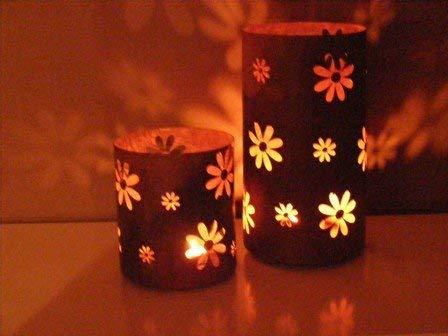 Edelrost Windlicht Blume Garten Laterne