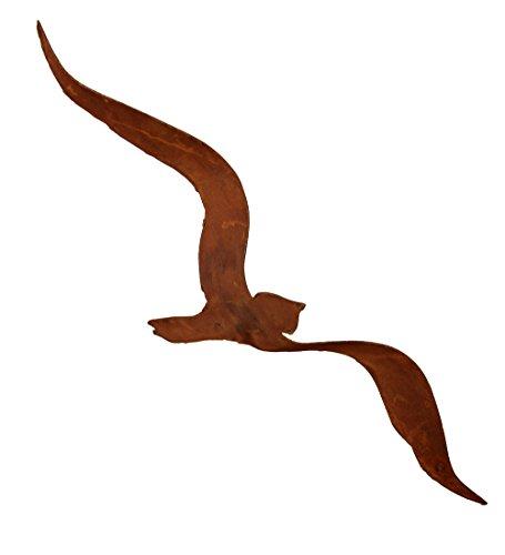 SAREMO Vogel zum Hängen Deko Rost Garten Edelrost Design Gartendekoration
