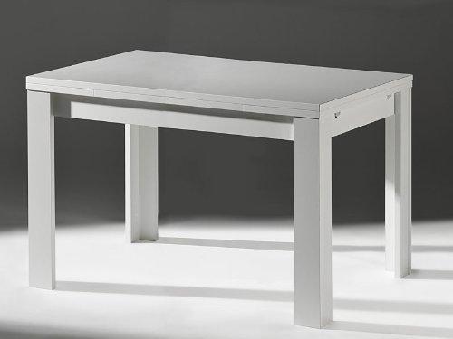 Unbekannt Küchentisch Weiß Esstisch Ausziehtisch Weiß Matt 120x80cm