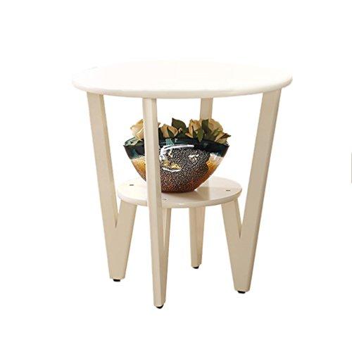 Hometable XZG Wohnzimmer Kleiner Couchtisch Kreativ Massivholz Sofa Tisch Beistelltisch mehrere Seiten Nachttisch Wohnzimmer Dekoration Kleiner runder Tisch einfaches Leben Holz 2 60  58CM