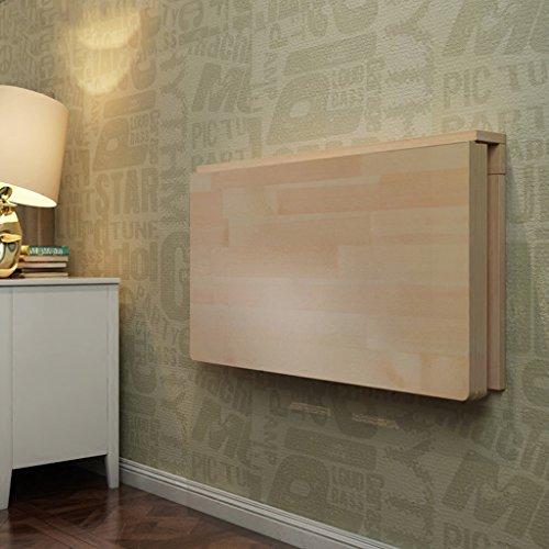 JXJJD Wand-Klapptisch aus Kiefernwand Wandtabelle Wandtisch Klapptisch Massivholz Esstisch Schreibtisch Wandbehang Tisch Klapptisch größe  100  50cm
