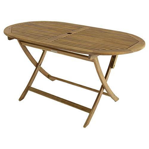 Bentley Garden - GartentischKlapptisch aus Holz - Oval