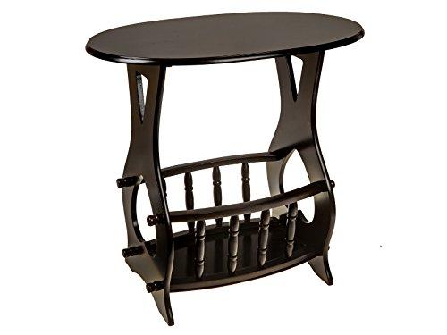 ih casa décor Seite Holz oval Tisch mit Zeitschriftenständer Holz braun