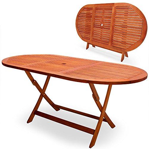 Deuba Gartentisch Esstisch Garten Tisch Gartenmöbel Holztisch EUKALYPTUS Klapptisch 160x85x75 cm - Modellauswahl