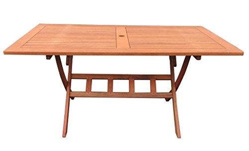 Grasekamp Gartenklapptisch Santos 140x80cm Holztisch Esstisch Gartentisch Balkon-Tisch